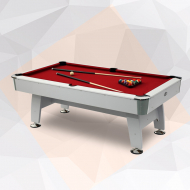 Olympia 8 Feet Billiard Table-White-Red