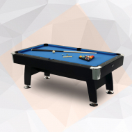 Olympia 8 Feet Billiard brown Frame with Blue cloth