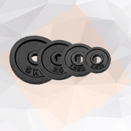 Black painted weight plates