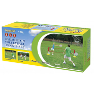 3 IN 1 BADMINTON, VOLLEYBALL &TENNIS SET from Out Door