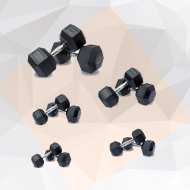 Olympia PAIR HEX RUBBER COATED DUMBBELLS