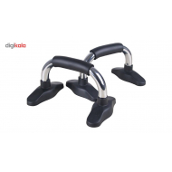 Steel push up bar from Live Up - Black / white