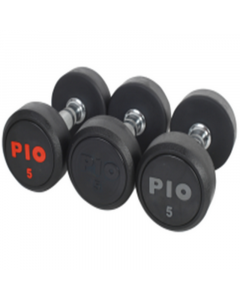 ROUND RUBBER DUMBBELL Black From PIO