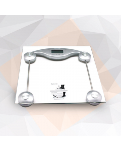 Olympia Glass Electronic Personal Scale - Silver