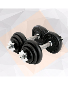 Olympia 15 kg Black Painted Dumbbell Set