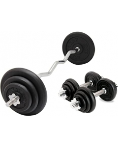 Olympia 50KG dumbbell Set with EZ Bar