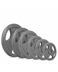 TRI-GRIP OLYMPIC CAST IRON WEIGHT PLATE