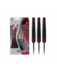 HARROWS ACE DARTS – STEEL TIP – NON SLIP - Red