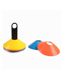 Agility cones set with rack